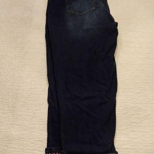Cropped Dark Jeans